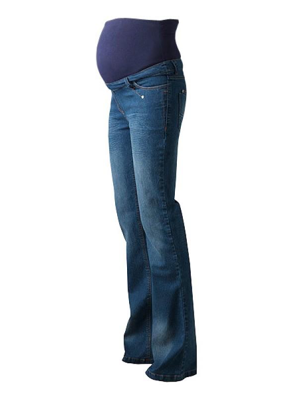 84c7f2b3d4468 Regular Blue Over Bump Tall Maternity Jeans