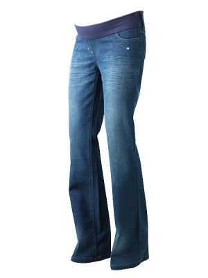 Regular Blue Under Bump Tall Maternity Jeans