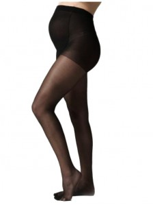 Premium 20 Denier Tall Maternity Tights - Black