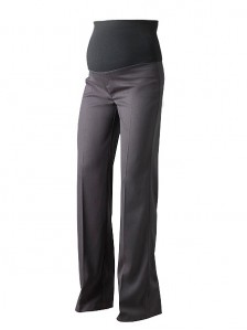 Grey Over Bump Tall Maternity Trousers