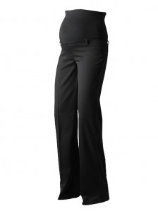 Black Over Bump Tall Maternity Trousers